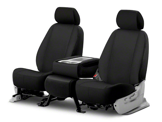 Fia Custom Fit Poly-Cotton Front Seat Covers - Black (09-18 RAM 1500 w/ Bucket Seats)