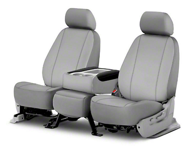 Fia Custom Fit Poly-Cotton Front Seat Covers - Gray (09-18 RAM 1500 w/ Bucket Seats)