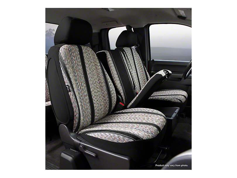Fia Custom Fit Saddle Blanket Front Seat Covers - Black (09-18 RAM 1500 w/ Bucket Seats)