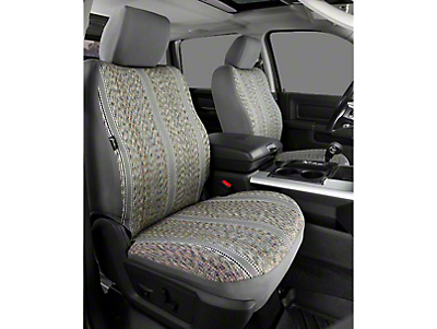 Fia Custom Fit Saddle Blanket Front Seat Covers - Gray (09-18 RAM 1500 w/ Bucket Seats)