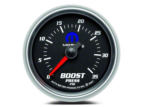 Mopar Boost Gauge - Mechanical - Black (02-19 RAM 1500)