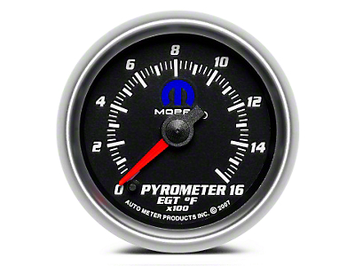 Mopar Pyrometer Gauge - Digital Stepper Motor - Black (02-19 RAM 1500)