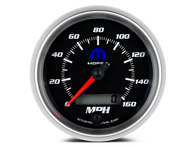 Mopar 3-3/8 in. Speedometer - Electrical - Black (02-19 RAM 1500)