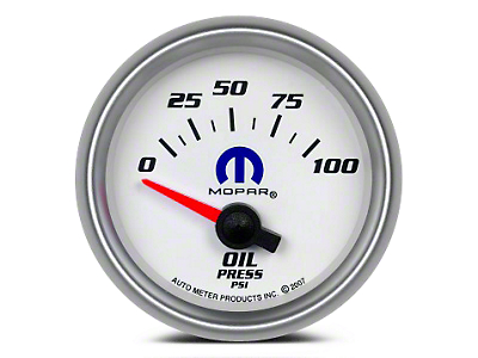 Mopar Oil Pressure Gauge - Electrical - White (02-19 RAM 1500)