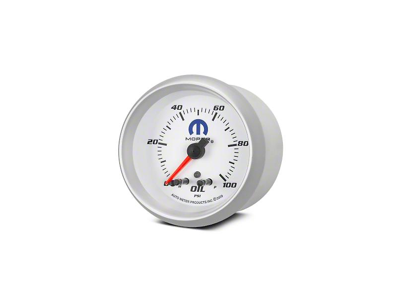 Mopar Oil Pressure Gauge - Digital Stepper Motor - White (02-19 RAM 1500)
