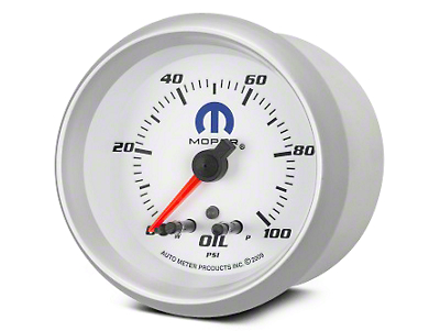 Mopar Oil Pressure Gauge - Digital Stepper Motor - White (02-19 RAM 1500)