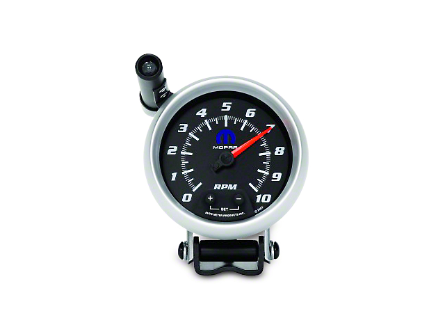 Mopar 3-3/4 in. Pedestal Tachometer w/ Shift Light - Black (02-19 RAM 1500)