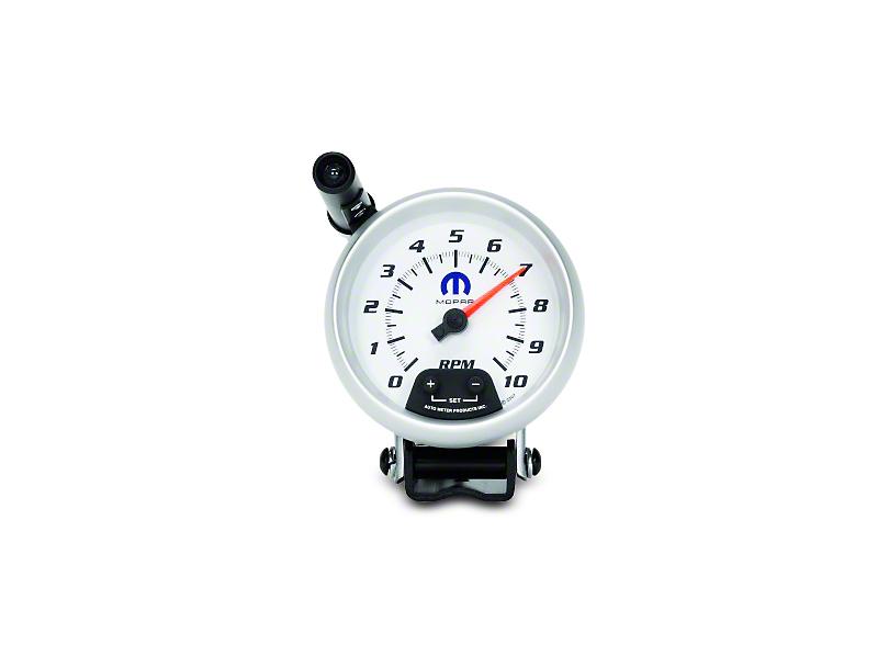 Mopar 3-3/4 in. Pedestal Tachometer w/ Shift Light - White (02-19 RAM 1500)