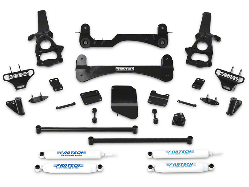 Fabtech 6 in. Performance Lift System w/ Shocks (02-05 4WD RAM 1500)