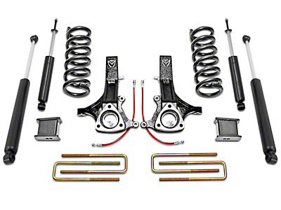 Max Trac MaxPro 7 in. Front / 4 in. Rear Lift Kit w/ Shocks (02-08 2WD 4.7L RAM 1500, Excluding Mega Cab)