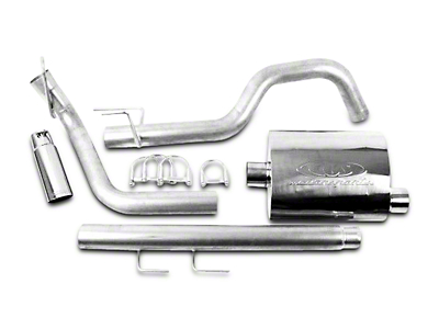 CGS Motorsports Stainless Single Exhaust System - Side Exit (02-05 3.7L RAM 1500)