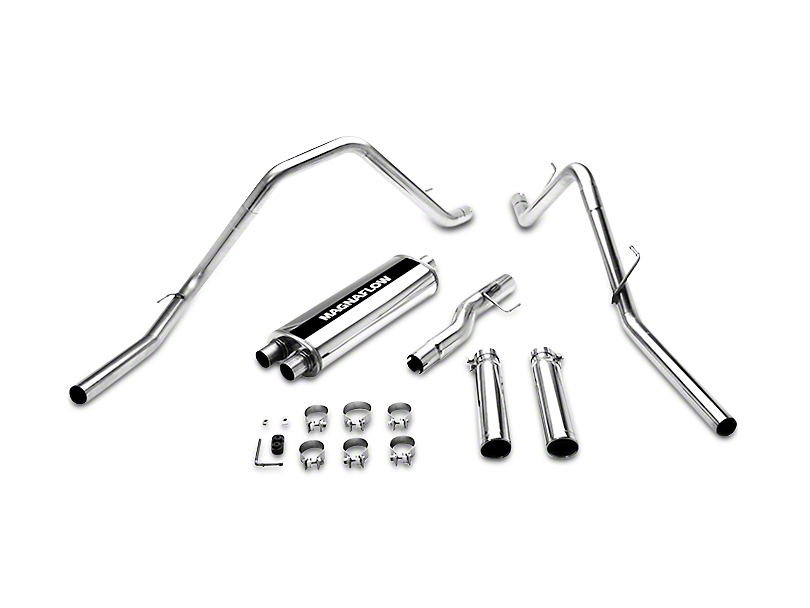 Magnaflow MF Series Dual Exhaust System - Rear Exit (02-04 4.7L RAM 1500)