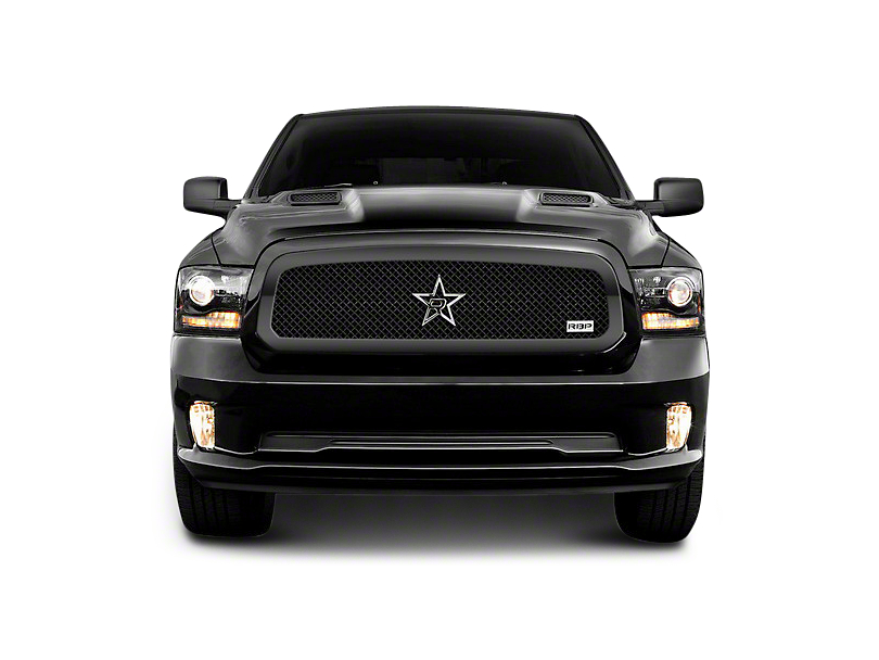 RBP RL Series Smooth Frame Upper Grille Insert - Black (13-18 RAM 1500, Excluding Rebel)