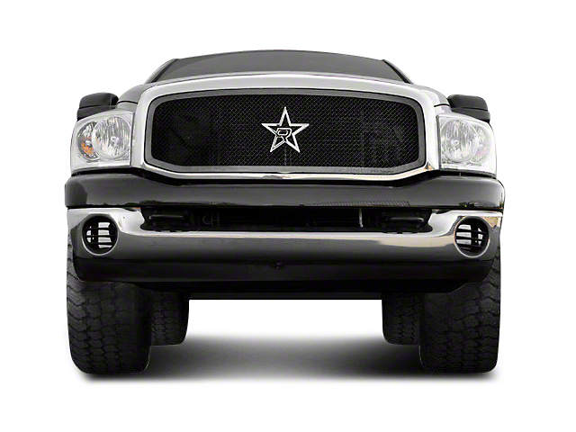 RBP RL Series Smooth Frame 1-Piece Upper Grille Insert - Black (06-08 RAM 1500)