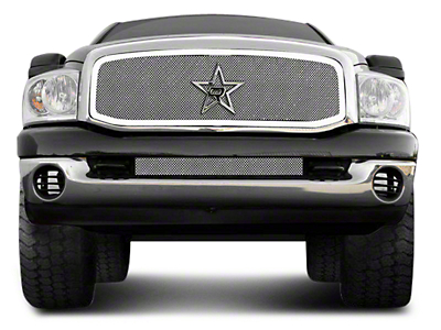 RBP RL Series Smooth Frame Upper Grille Insert - Chrome (06-08 RAM 1500)