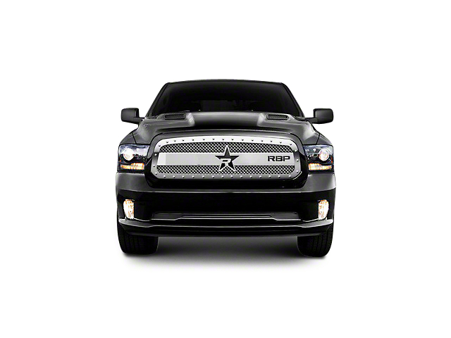 RBP RX-3 Series Studded Frame Upper Grille Insert - Chrome (13-18 RAM 1500, Excluding Rebel)