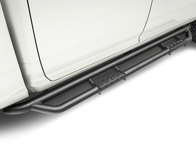 RBP RX-3 Cab Length Side Step Bars - Black (09-18 RAM 1500 Quad Cab, Crew Cab)