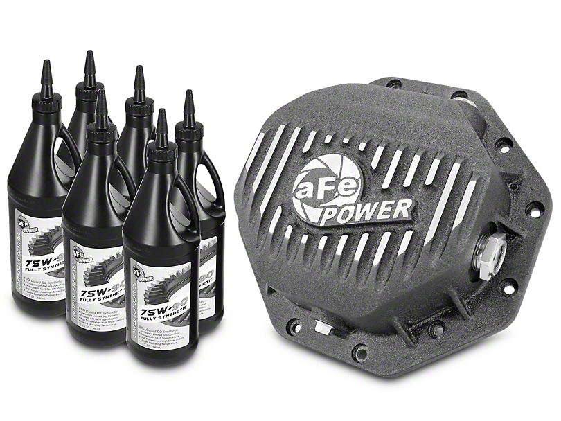AFE Pro Series Rear Differential Cover w/ 75w-90 Gear Oil - 9.25 in. (02-18 RAM 1500)