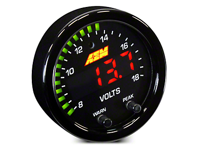 AEM Electronics X-Series Voltmeter Gauge - Electrical (02-19 RAM 1500)