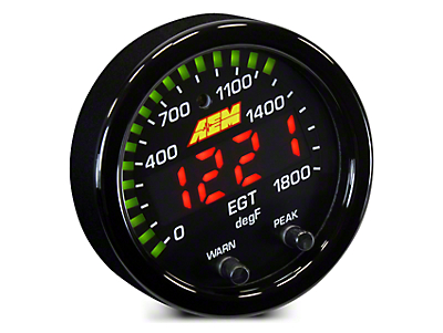 AEM Electronics X-Series Exhaust Temperature Gauge - Electrical (02-19 RAM 1500)
