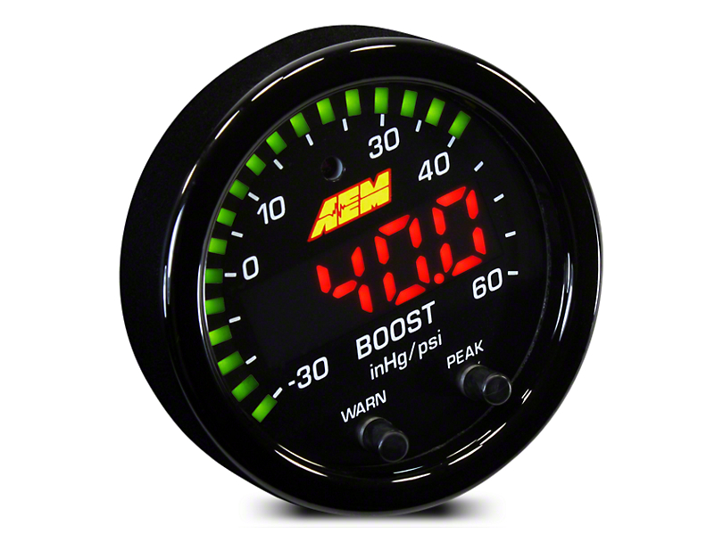 AEM Electronics X-Series Boost Pressure Gauge - Electrical (02-19 RAM 1500)