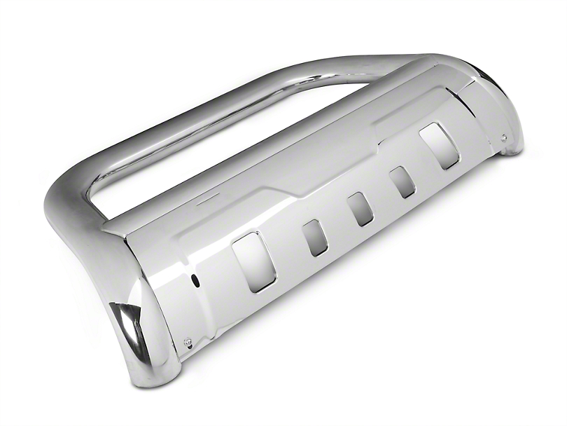 Barricade 3.5 in. Oval Bull Bar w/ Formed Skid Plate - Stainless Steel (03-05 RAM 1500)