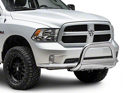 Barricade 3.5 in. Oval Bull Bar w/ Formed Skid Plate - Stainless Steel (09-18 RAM 1500, Excluding Rebel)