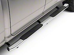 Barricade Pinnacle 4 in. Oval Bent End Side Step Bars - Stainless Steel (09-18 RAM 1500 Crew Cab)