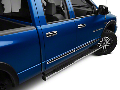 Barricade T4 Side Step Bars - Stainless Steel (02-08 RAM 1500 Quad Cab)