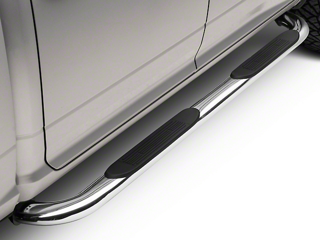 Barricade 4 in. Oval Bent End Side Step Bars - Stainless Steel (09-18 RAM 1500)