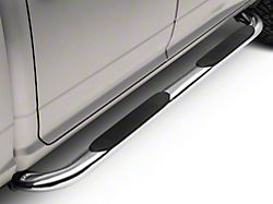 Barricade 4 in. Oval Bent End Side Step Bars - Stainless Steel (09-18 RAM 1500 Quad Cab)