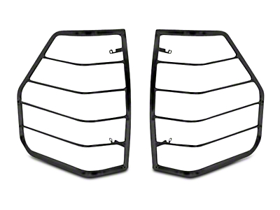 Black Horse Off Road Tail Light Guards - Black (02-08 RAM 1500)