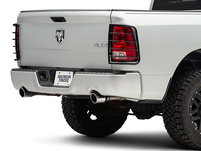 Black Horse Off Road Tail Light Guards - Black (09-18 RAM 1500)