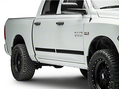 MMD Rugged Look Body Side Moldings - Matte Black (09-18 RAM 1500 Quad Cab, Crew Cab)