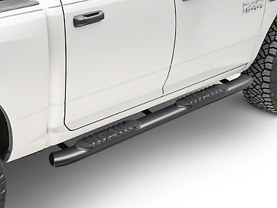 Black Horse Off Road 5 in. Extreme Side Step Bars - Black (09-18 RAM 1500 Quad Cab, Crew Cab)