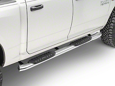 Black Horse Off Road 5 in. Extreme Side Step Bars - Stainless (09-18 RAM 1500 Quad Cab, Crew Cab)