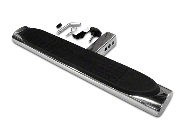 Black Horse Off Road 28 in. Oval Hitch Step - Stainless Steel (02-19 RAM 1500)