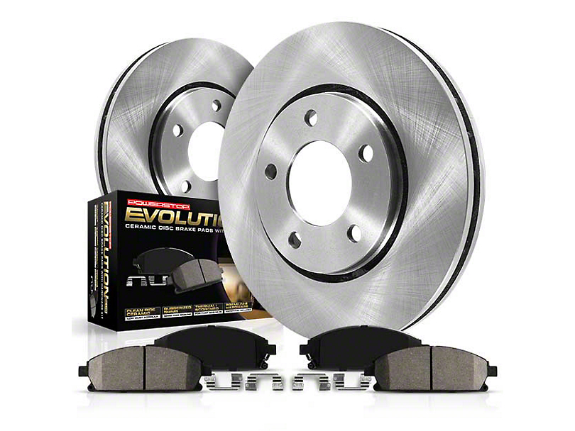 Power Stop OE Replacement Brake Rotor and Pad Kit; Front and Rear (02-18 RAM 1500)