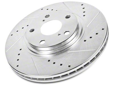 Power Stop Evolution Cross-Drilled & Slotted Rotors - Front Pair (02-18 RAM 1500, Excluding SRT-10 & Mega Cab)
