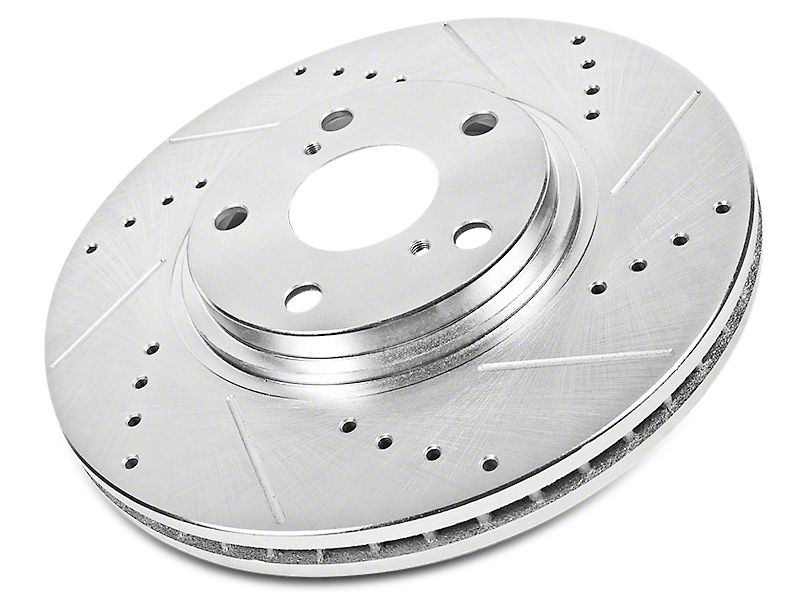 Power Stop Evolution Cross-Drilled & Slotted Rotors - Front Pair (02-18 RAM 1500)