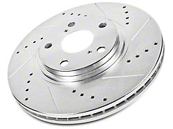 Power Stop Evolution Cross-Drilled and Slotted Rotors; Front Pair (02-18 RAM 1500, Excluding SRT-10 & Mega Cab)