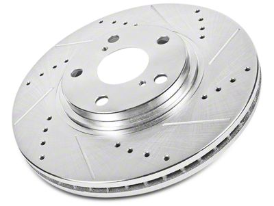 Power Stop Evolution Cross-Drilled & Slotted Rotors - Rear Pair (02-18 RAM 1500, Excluding SRT-10 & Mega Cab)