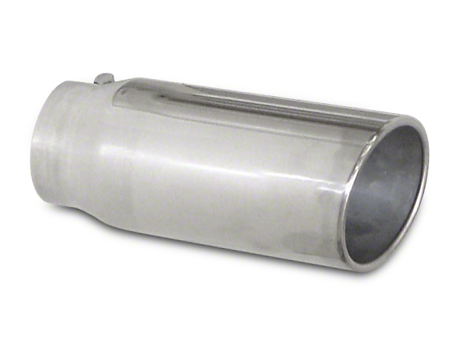 Pypes 5 in. Polished Rolled Angled Cut Exhaust Tip - 2.5 in. Connection (02-19 RAM 1500)