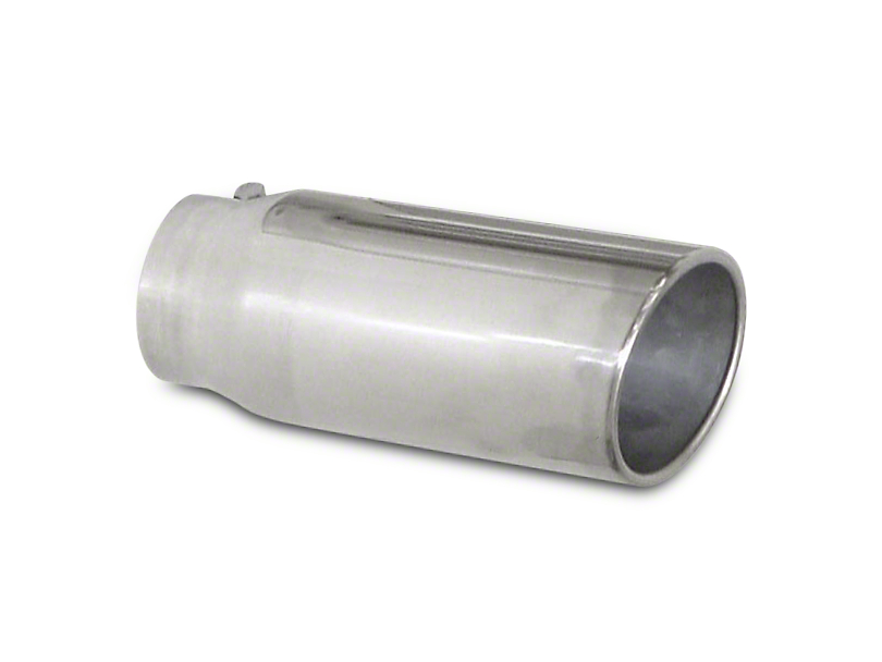 Pypes 5 in. Polished Rolled Angled Cut Exhaust Tip - 3 in. Connection (02-19 RAM 1500)