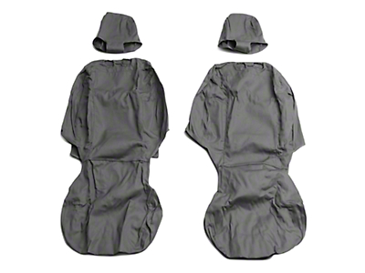 Covercraft Front Row Seat Saver Seat Covers - Charcoal (09-18 RAM 1500 w/ Bucket Seats)