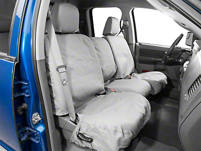 Covercraft Front Row Seat Saver Seat Covers - Gray (02-08 RAM 1500 w/ Bench Seat)