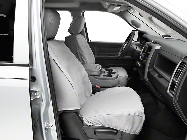 Covercraft SeatSaver Front Seat Covers; Gray (09-18 RAM 1500 w/ Bucket Seats)
