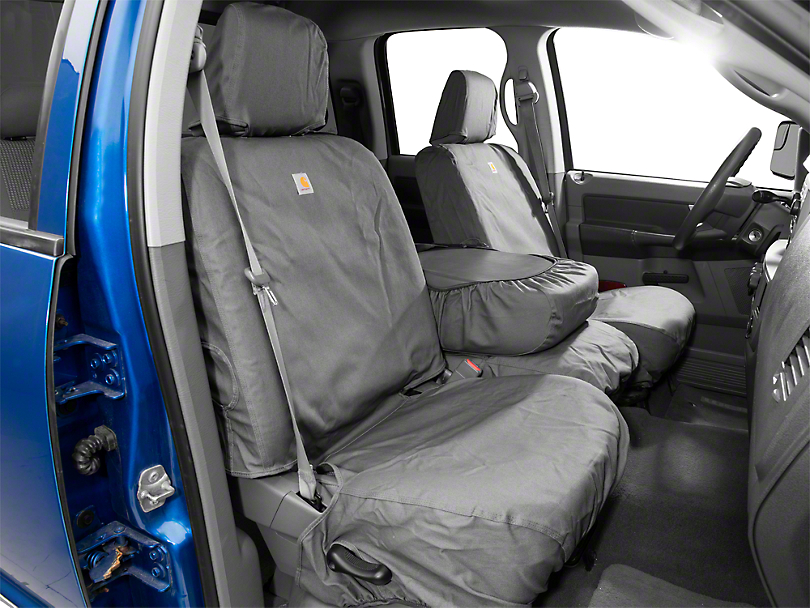 Covercraft Carhartt SeatSaver Front Seat Cover - Gravel (02-08 RAM 1500 w/ Bench Seat)