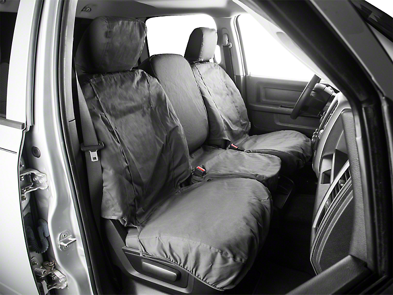 Covercraft SeatSaver Front Row Seat Covers - Charcoal (09-18 RAM 1500 w/ Bench Seat)