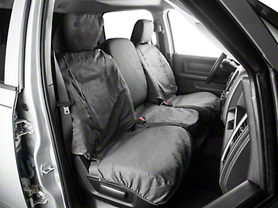 Covercraft Front Row Seat Saver Seat Covers - Charcoal (09-18 RAM 1500 w/ Bench Seat)